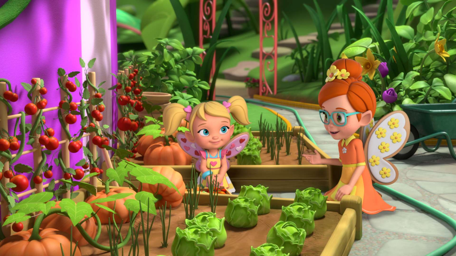 The Missing Veggies!/Cricket the Flower Girl!