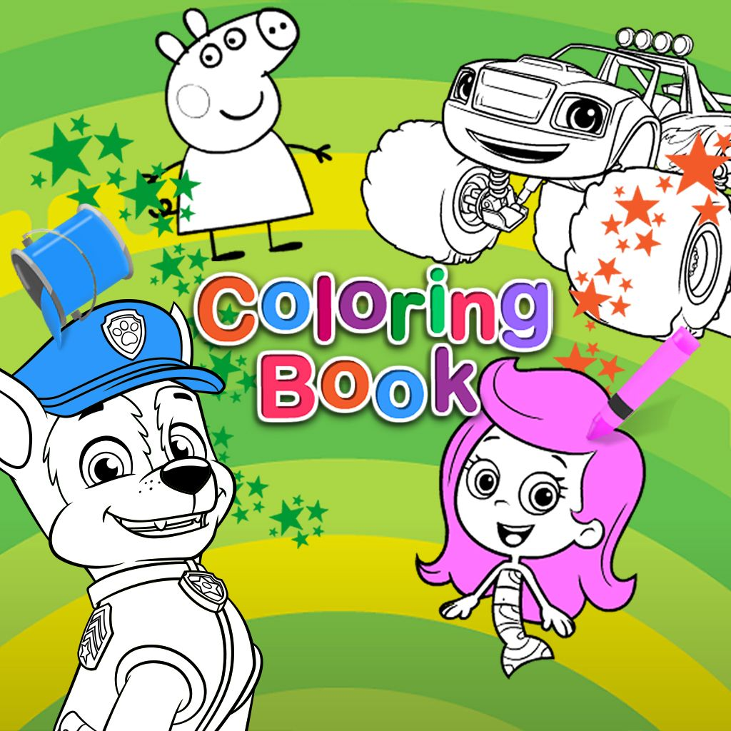 Nick jr print pages to color - Coloring Games On Nick Jr