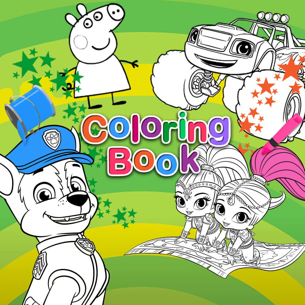 Fill in coloring games online - Nick Jr Coloring Pages Online Auromas