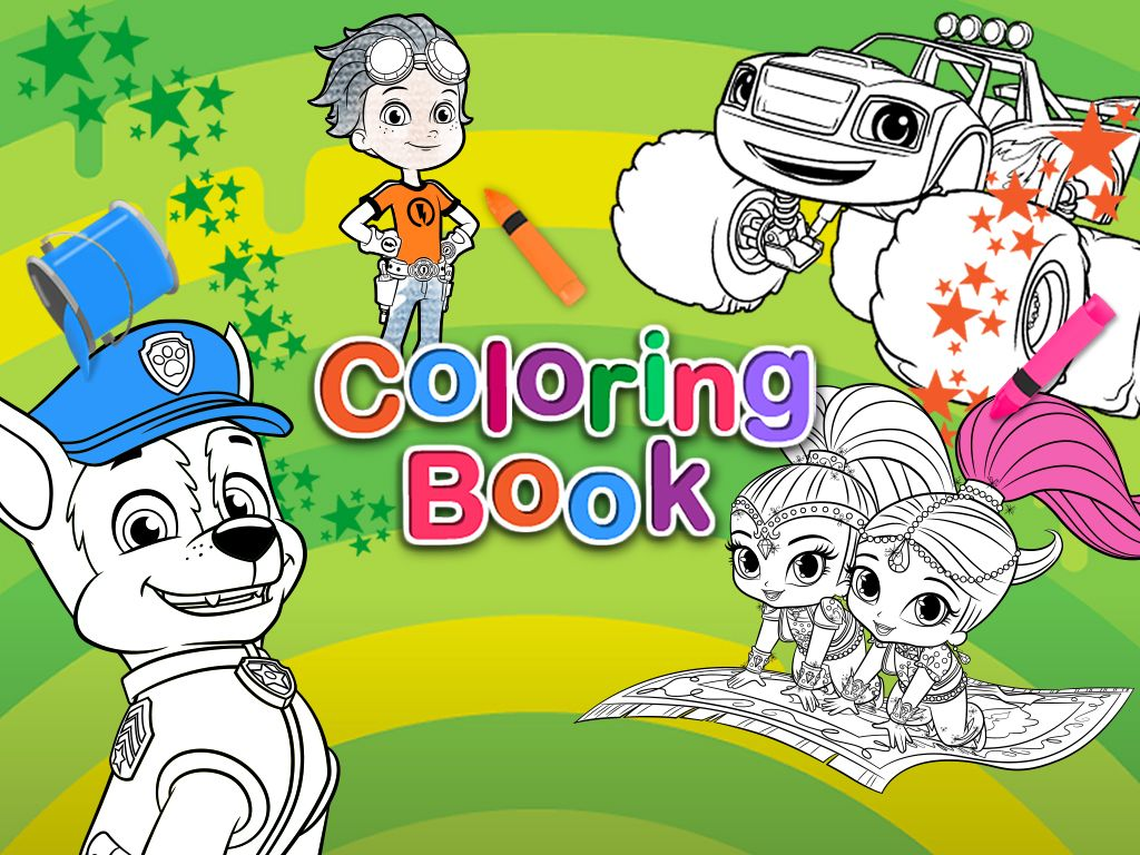 graphic relating to Nick Jr Coloring Pages Printable titled Nick Jr. Coloring Ebook: Coloring Internet pages for Young children