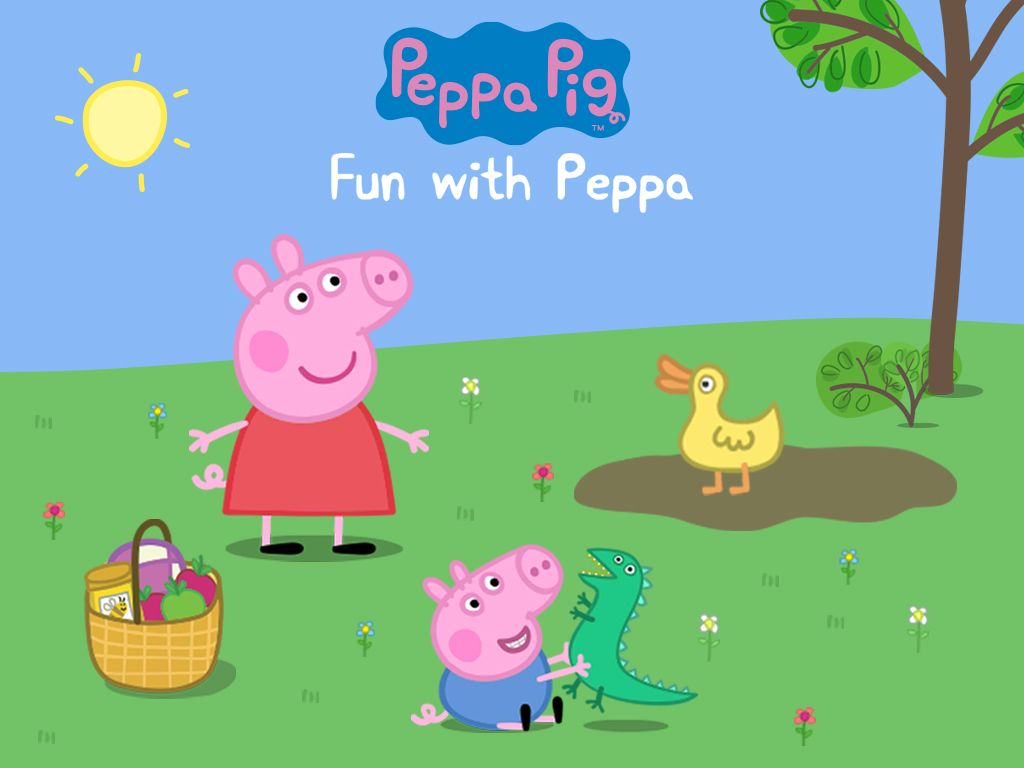 peppa pig fun with peppa blue flower clipart on a png background blue flower clip art free