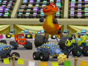 Blaze And The Monster Machines S2 Ep215 Dinosaur Parade Full Episode