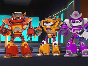 Blaze And The Monster Machines S4 Ep407 Robots To The