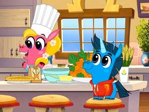 Baking Time Corn And Peg Video Clip S1 Ep107
