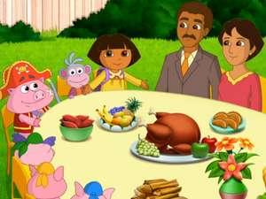 Thanksgiving Day Dora The Explorer Video Clip S7 Ep708