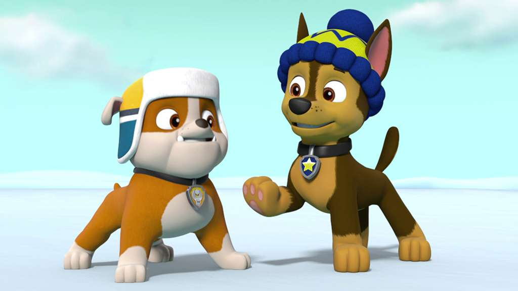 paw patrol s5 ep512 pups save the snowshoeing goodways pups save a