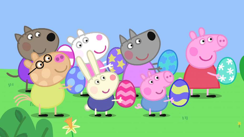 peppa pig s7 ep148 easter bunny spring rebecca rabbit mummy rabbit s