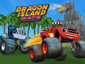 Blaze Dragon Island Race Play Games On Nickjr Com